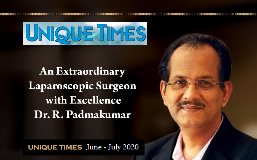 Dr. R. Padmakumar in UNIQUE Times English Magazine